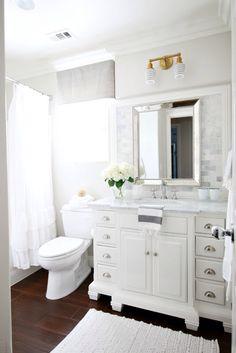 Fresh Small White Bathroom Cabinet Floor