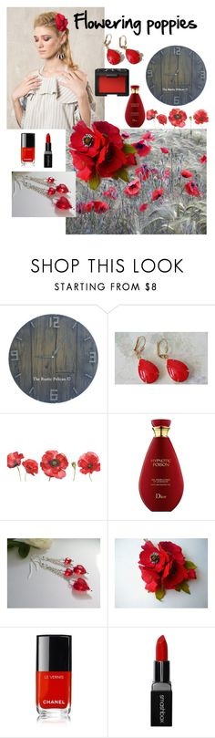 """""""Flowering poppies"""" by varivodamar ❤ liked on Polyvore featuring Chanel, Smashbox, NARS Cosmetics and modern"""