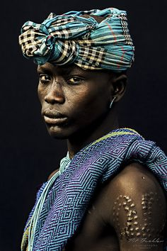 2013 - October - Young Warrior - Mursi Tribe - Omo Valley - South Ethiopia - Africa -  Photo Series 'African Vogue'