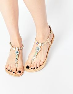 0f9e42c10f4e ASOS FAKED Leather Sandals at asos.com