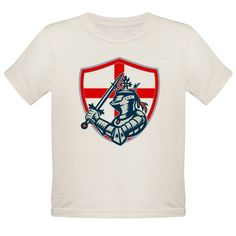 English Knight Full Armor With Sword Retro T-Shirt