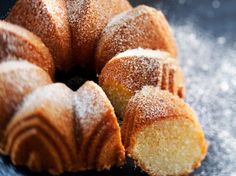 Kultarannan pumpulikakku Sweet Recipes, Cake Recipes, Finnish Recipes, Decadent Cakes, Sweet Bakery, Sweet Pastries, Bread Cake, Little Cakes, Gluten Free Baking