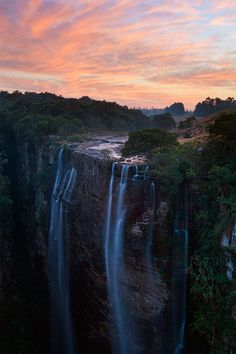 Magwa Falls, Near Lusikisiki, Wild Coast, South Africa