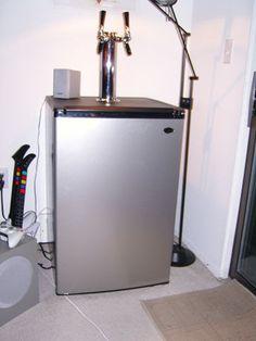 Converting a mini fridge into a kegerator for two corny kegs