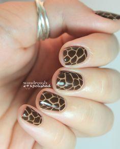 Animal Print nail design - nailart