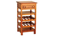 Ancient Marina Mahogany Village Small Wine Rack. Order online today at www.homewoodinteriors.co.uk