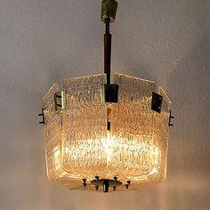 Gorgeous-amp-Unique-Mid-Century-J-T-KALMAR-Vienna-BASKET-CHANDELIER-Pendant-Light