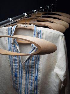 These coat hangers are made from cardboard tubes - a nice looking sustainable alternative to the standard hanger