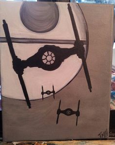 Acrylic Painting Entitled Star Wars by AlchemistsArtisans on Etsy