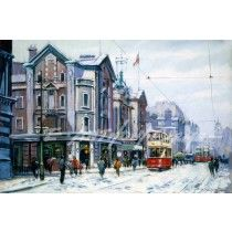 The Hippodrome Oxford Road Manchester  Nostalgic fine art print of Manchester painted by E Anthony Orme