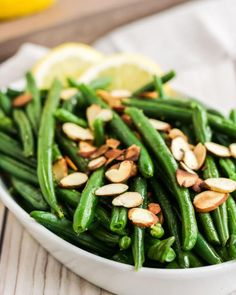 Green Beans Almondine Healthy Side Dishes, Healthy Meals For Kids, Vegetable Side Dishes, Quick Easy Meals, Best Dinner Recipes, Easy Recipes, Healthy Recipes, French Side Dishes, Green Beans Almondine