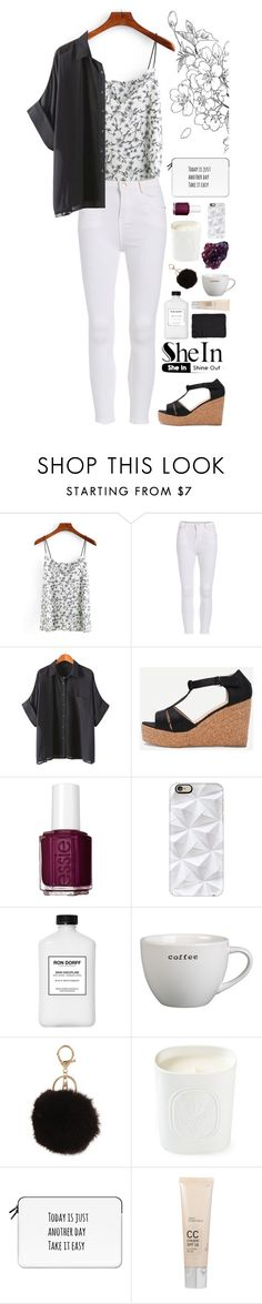 """""""shein // petal power"""" by oatilysarah ❤ liked on Polyvore featuring Essie, Casetify, Crate and Barrel, Armitage Avenue, Diptyque, DK, Dr. Dennis Gross Skincare and Alicia Adams"""