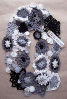 scarf - love the shades of B&W