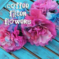 Doodlecraft: Coffee Filter Flower Tutorial!