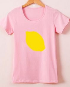 XXXL lemon online t shirt printing short sleeve for girl fruit t shirts-