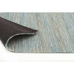 Network Paradis Turquoise 100 Hemp Scandinavian Style Flatweave Rug & Reviews | Temple & Webster