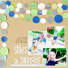 Stitched circles LO by Kimberly Neddo for Bella Blvd - so fun!
