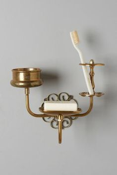 Anthropologie Brass Trinket Bath Caddy  - Click link for product details :)
