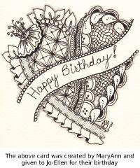 Happy Birthday Doodle Oodles Of Doodles Jpg 200x240 Zentangle