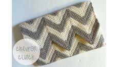 Chevron Clutch ~ free pattern – 2019 how to garden grow idea Crochet Clutch Bags, Crochet Wallet, Crochet Purses, Crochet Bags, Purse Patterns Free, Crochet Purse Patterns, Crochet Stitches, Free Pattern, Knitting Patterns