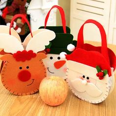 Christmas Bag Candy Holders Christmas Decorations For Home Xmas Ornament Santa Claus Christmas Gifts Bags Navidad Party Supplies Christmas Candy Gifts, Christmas Tree With Presents, Christmas Trees For Kids, Santa Claus Christmas Tree, Unique Christmas Decorations, Christmas Bags, Christmas Fabric, Christmas Crafts, Merry Christmas