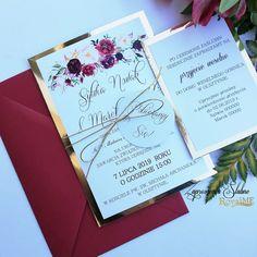 Kolor o który często pytajcie czyli bordo 😊 w połączeniu ze złotem prezentuje się bardzo elegancko 😍  #zaproszeniaślubne #papeteriaślubna… Berry Wedding, Autumn Wedding, Invitation Cards, Wedding Invitations, Weeding, Wedding Cards, Blush Pink, Wedding Decorations, Wedding Inspiration