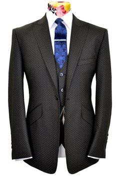 The Hutchison Black Pin Dot Suit