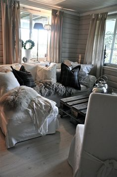 pillows and slipcovers