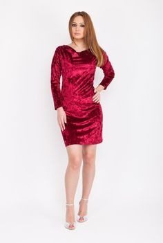Rochie eleganta rosie CSF-205 -  Ama Fashion Dresses With Sleeves, Formal Dresses, Long Sleeve, Fashion, Dresses For Formal, Moda, Sleeve Dresses, Formal Gowns, Long Dress Patterns