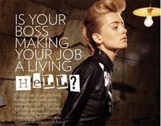 they aren't my boss Bully Bosses:   IS YOUR BOSS MAKING YOUR JOB A LIVING HELL?