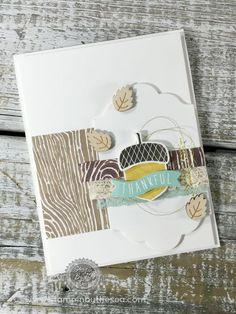 Acorny Thank You, Stampin' Up!