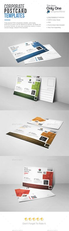 Fashion Postcard Design Template - Cards \ Invites Design Print - postcard template