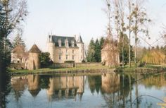 FRANCE, Loire Valley ..Launay Castle, a historic 15th century castle, set on 36 acres. (Approx. 53 miles from Tours). Surrounded by a moat, pristine landscaping, and a pool. Trails traverse the property's fields and wooded areas.  A quaint town complete with a baker, general store, butcher, and pharmacy is w/in easy walking distance. Guest accommodations are available in both the main chateau & a guest cottage. Sleeps up to 18.  To rent: Starting at $1,710 per night, homeaway.com.