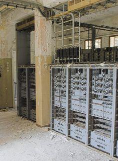 Abandoned telecom center, near Athens, Greece.