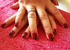 CND Shellac - Lady Bird nail art