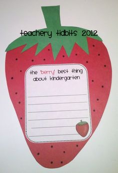 End of the year strawberry craftivity