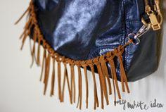 FRINGES FOR YOUR BAG | MY WHITE IDEA DIY