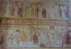 Fresque murale de l'église Saint Genest de Lavardin en Vendômois