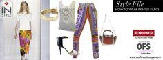 ♦ #FashionBySIMAN & Our Favorite Style ♦ Los pantalones estampados están en tendencia. Úsalos con un top neutro para que tus pantalones sean los que se roben la atención.