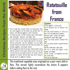 A delicious Ratatouille from France!