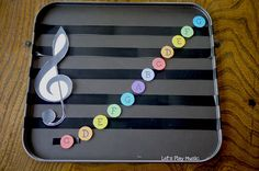 DIY Magnetic Music Stave - so easy and useful in the class room or at home!