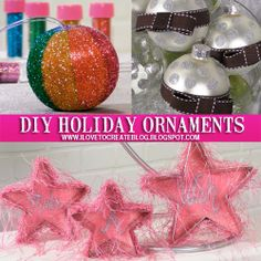 iLoveToCreate Blog: DIY Holiday Ornaments with Pattiewack