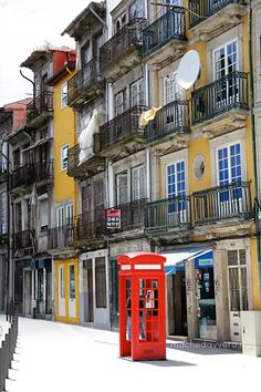Public telephone in Porto, Portugal neighborhood Visit Portugal, Spain And Portugal, Portugal Travel, Portugal Trip, Porto City, Douro Valley, Europe Holidays, Most Beautiful Cities, Lisbon