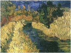 The Little Stream  Vincent van Gogh Painting, Oil on Canvas Auvers-sur-Oise: June, 1890 #vangogh