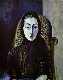 Jacqueline Roque by Picasso --- Last muse of Picasso Jacqueline Roque was the seventh muse of a great Spanish artist. Jacqueline Roque – became the second wife of Pablo Picasso. For 11 years of their marriage he created more than 400 portraits of her. Kunst Picasso, Art Picasso, Picasso Paintings, Georges Braque, Spanish Painters, Spanish Artists, Paul Gauguin, Henri Matisse, Trinidad