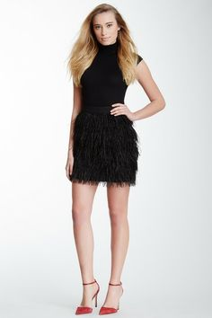 Feather Tiered Mini Skirt by Vince Camuto on @HauteLook