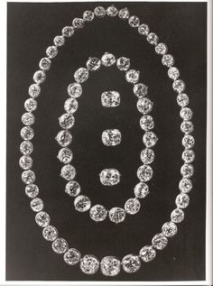 Diamond necklaces - Part of the Russian crown jewels before being broken up.