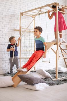Outdoor Fun For Kids, Backyard For Kids, Toddler And Baby Room, Toddler Gym, Toddler Slide, Playroom Decor, Kid Playroom, Playroom Design, Kids Climber