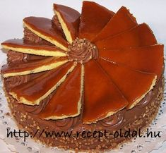 DOBOS TORTA - Hozzávalók (egy 26 cm átmérőjű tortaformához):  A piskótához: 9 tojás, 9 evőkanál cukor, 9 evőkanál rétesliszt.  A krémhez: 5 tojás,   25 dkg cukor, 1 csomag főzős csokoládés pudingpor, 25-30 dkg vaj, 2 tábla (20 dkg) csokoládé, 1 evőkanál rum vagy pár csepp rumaroma.  A karamellmázhoz: 20 dkg cukor, 1 kiskanál ecet, 1 evőkanál vaj. Tiramisu, Rum, Waffles, Cukor, Breakfast, Ethnic Recipes, Food, Morning Coffee, Eten