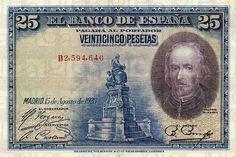 Calderón de la Barca. 25 pesetas